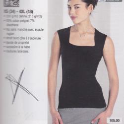 Sleeveless stretch top
